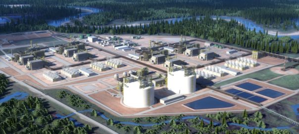 rendering of Kitimat LNG terminal